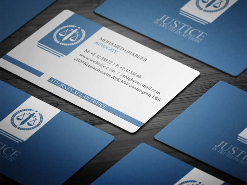 Unique Business Cards For Attorneys Gallery - Card Design And Card ...